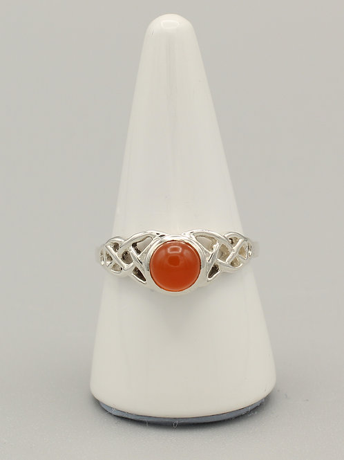 Carnelian Celtic Ring
