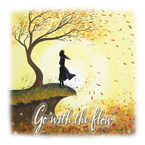 """Go With the Flow"" Fridge Magnet"