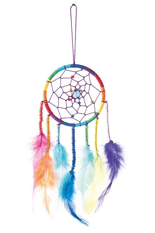 Rainbow Dreamcatcher with Beads