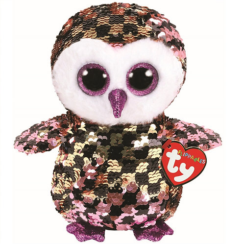 Checks the Owl Flippable Ty Beanie Boo Buddy