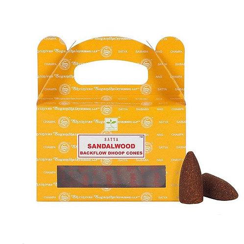 Satya Sandalwood Backflow Incense Cones