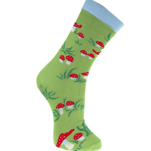 """Toadstools"" Bamboo Socks"