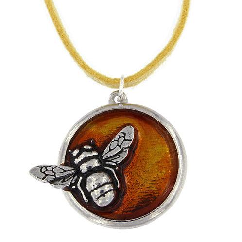 St Justin Pewter Honey Bee Enamel Pendant