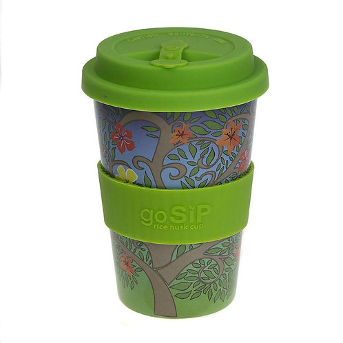 Tree of Life in Bloom Rice Husk Cup