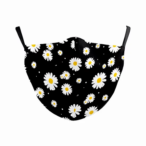 Daisies Reusable Adult Face Covering with Filter Pouch