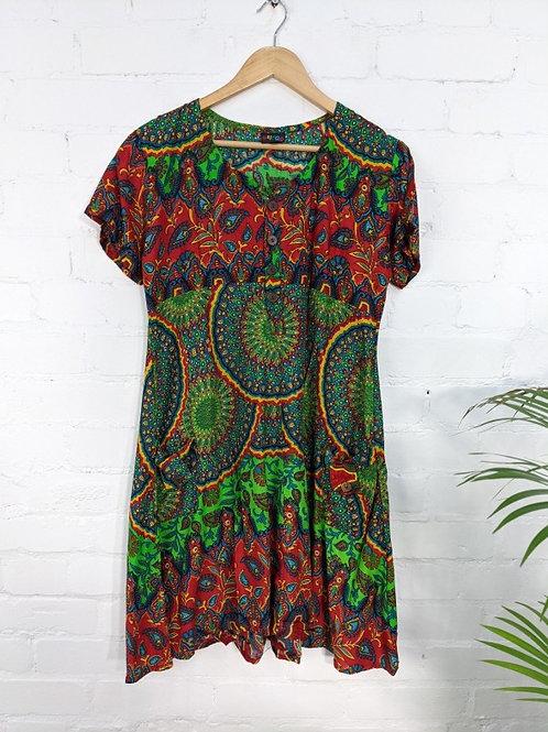 Assorted Paisley Short Dress - 100% Viscose