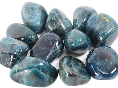 Blue Apatite Tumblestone