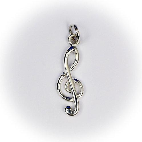 Sterling Silver Treble Clef pendant