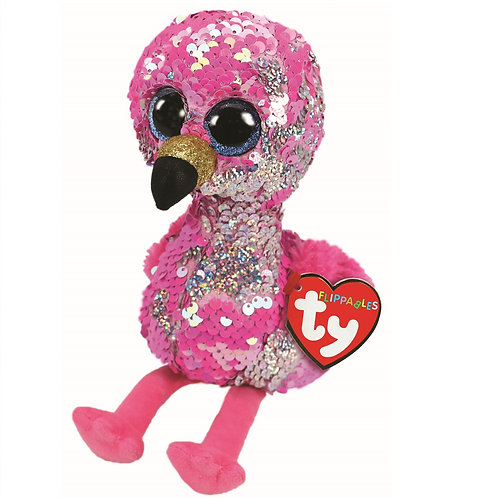 Pinky the Flamingo Flippable Ty Beanie Boo