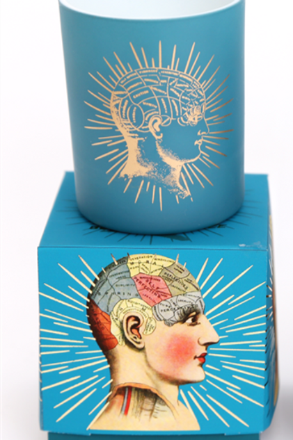 Phrenology Candle Pot