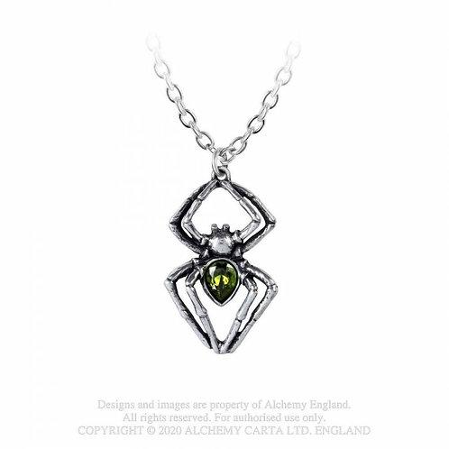 Emerald Spiderling Pendant