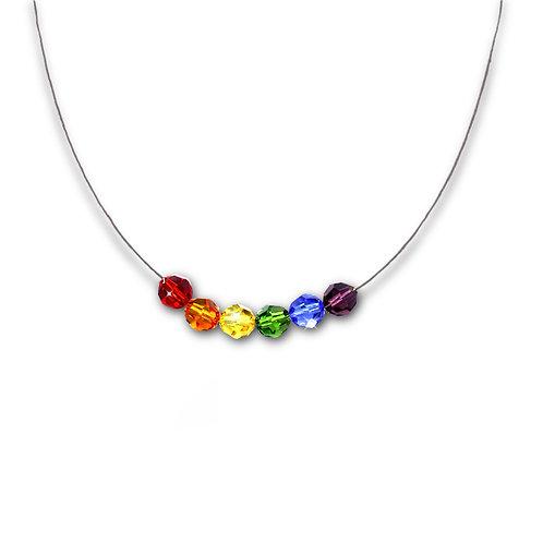 Rainbow Set Necklace With Swarovski® Elements