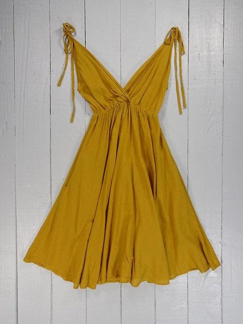 Short Strappy Dress - 4 Colours - 100% Cotton
