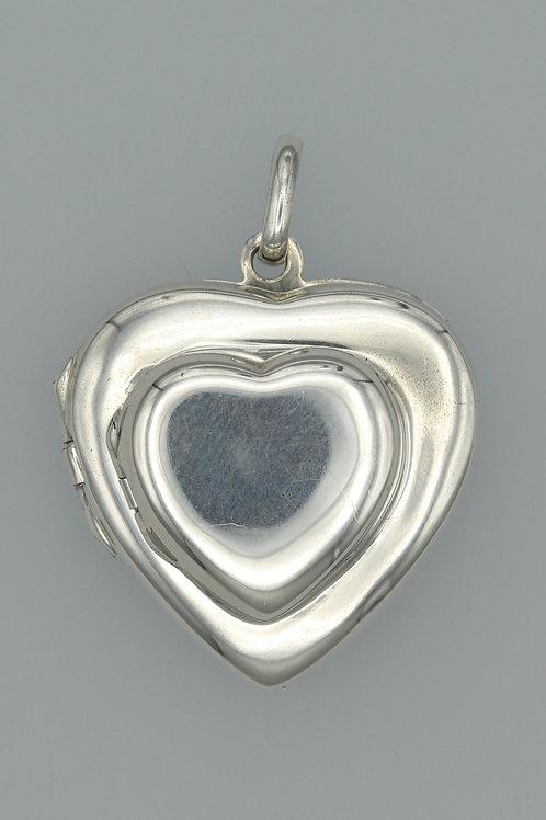 2-Part Heart Locket Pendant