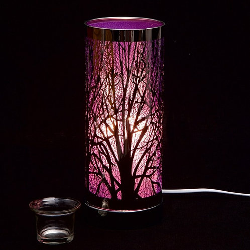 Purple and Silver Aroma Touch Lamp