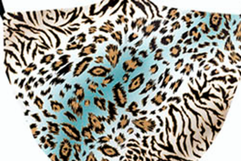 Cool Leopard Reusable Adult Face Covering with Filter Pouch