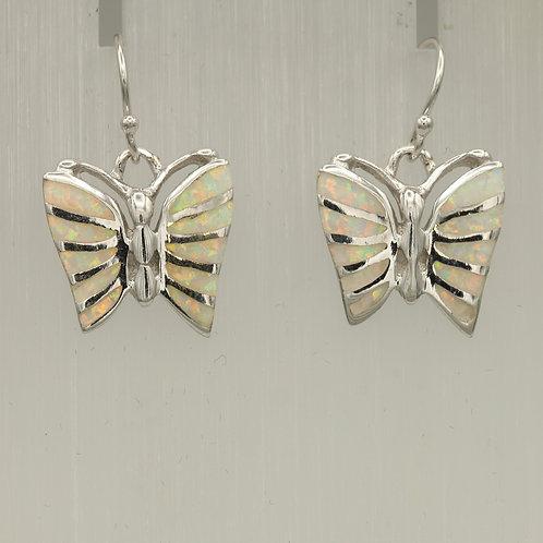 Gilson Opal Butterfly Earrings