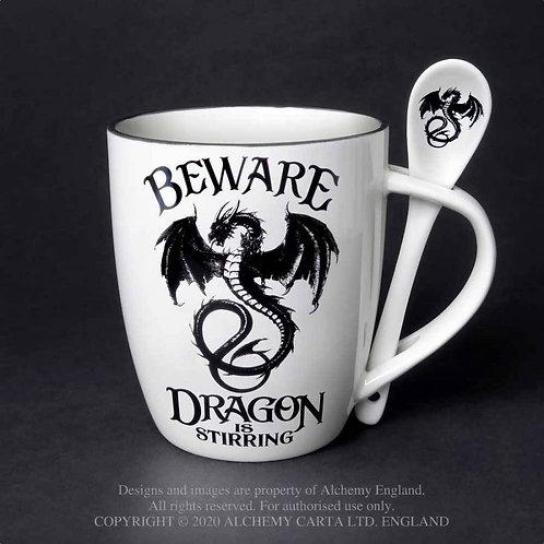 """Dragon is Stirring"" Mug and Spoon Set"