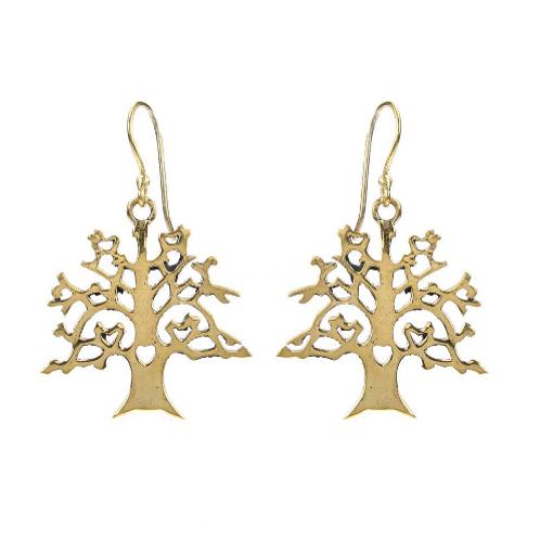 Brass Tree Earrings