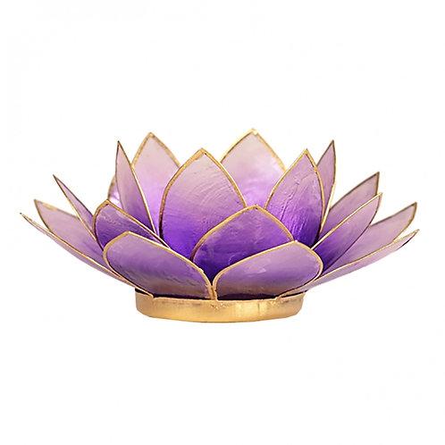 Violet Lotus Tea-Light Holder