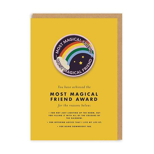 """""""Most Magical Friend"""" Card with Patch"""