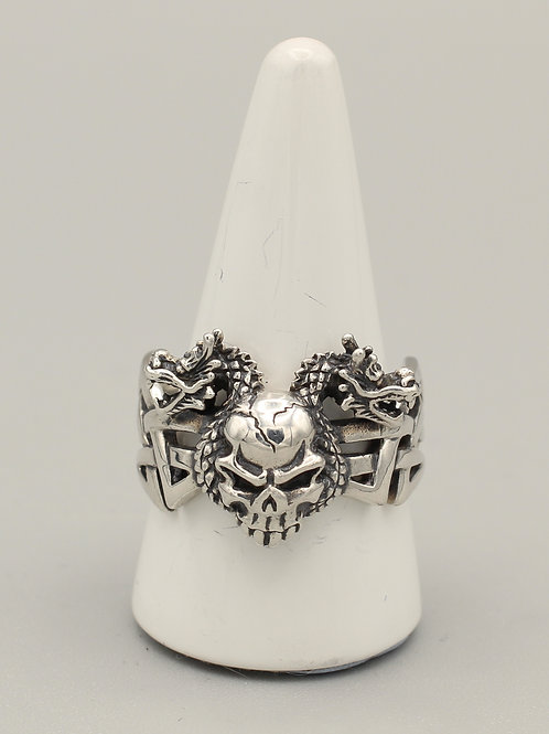 Skull and Dragons Ring