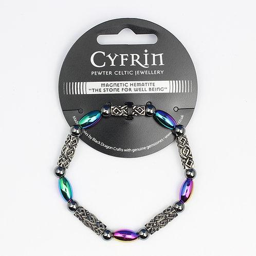 Celtic Magnetic Rainbow Hematite Bracelet