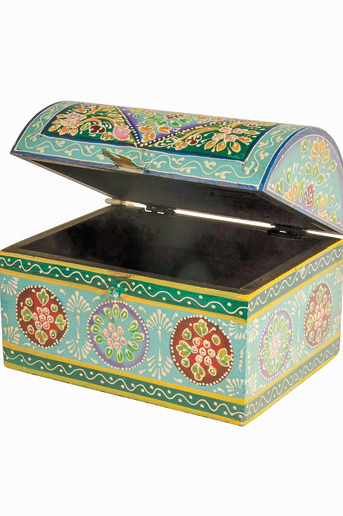 Hand Painted Wooden Chest