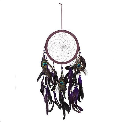 Purple Peacock Dreamcatcher Mobile