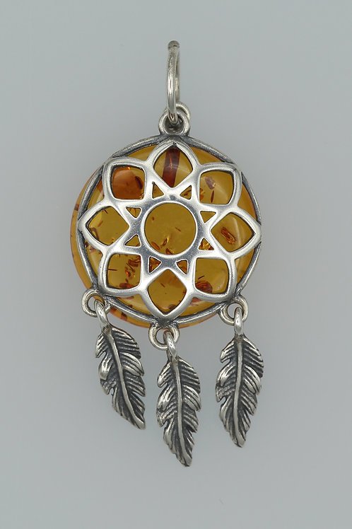 Amber Dreamcatcher Pendant