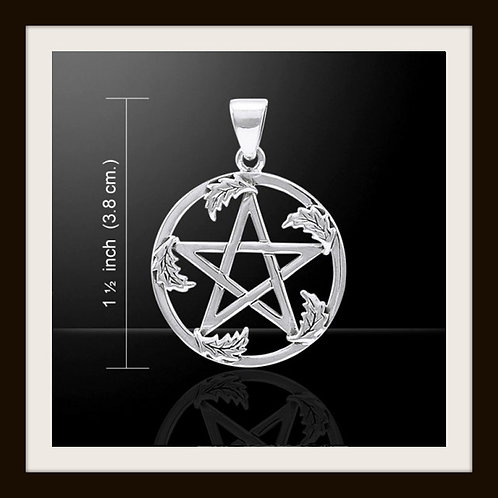 Sterling Silver Oak Leaf Pentacle pendant