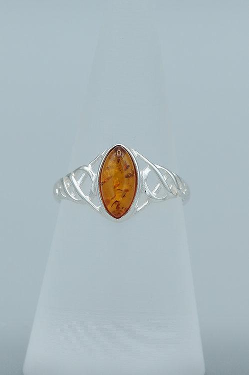 Amber Celtic Ring