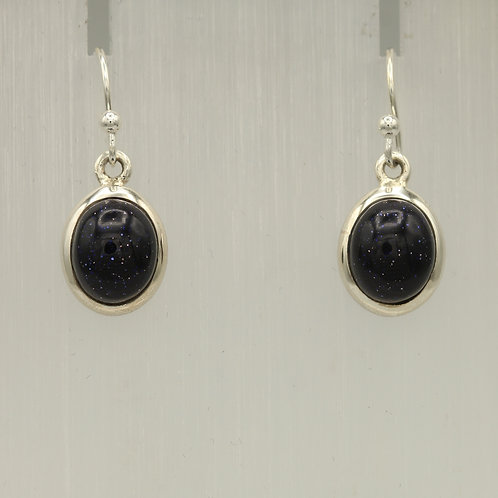 Blue Goldstone Earrings