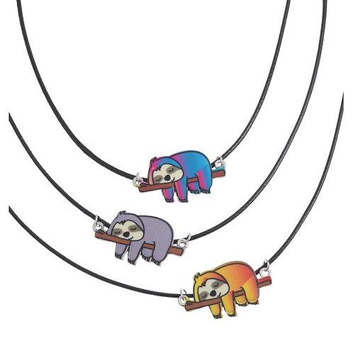 Sleepy Sloth Pendant