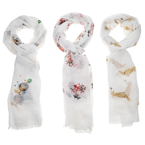 Country Animals Scarf