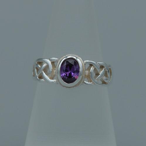 Amethyst Celtic Ring