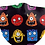 Thumbnail: Alien Monsters Reusable Child's Face Covering with Filter Pouch