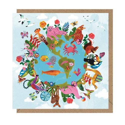 """Colourful World"" Card"