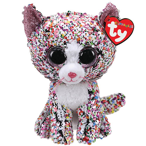 Confetti the Cat Flippable Ty Beanie Boo