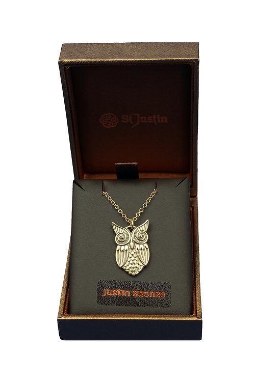 Bronze Owl Pendant