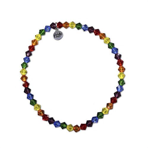 Tiny Rainbow Bracelet With Swarovski® Elements