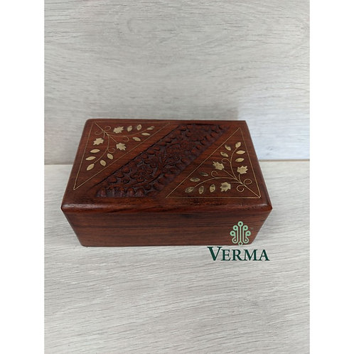Carved Inlaid Wooden Box