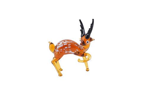 Fox and Fern Glass Deer