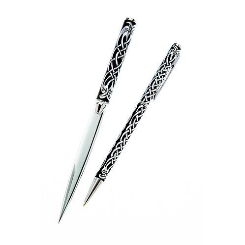 Celtic Bird Design Pen & Letter opener set