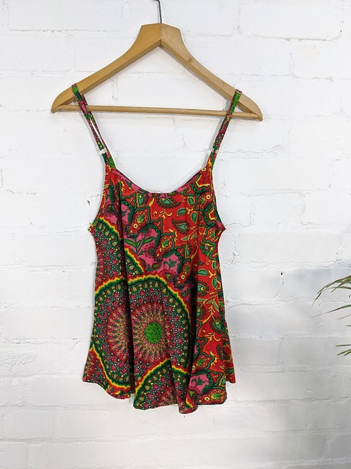 Assorted Paisley Strappy Vest - 100% Viscose