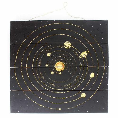 Celestial Solar System Plaque