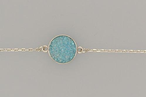 Blue Aura Quartz Bracelet