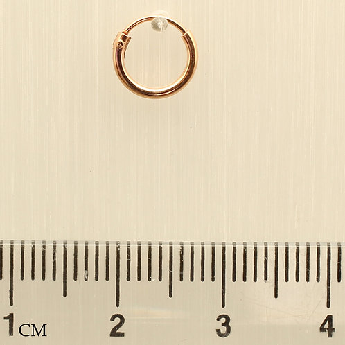 Rose Gold Plated Hoops 1.2mm