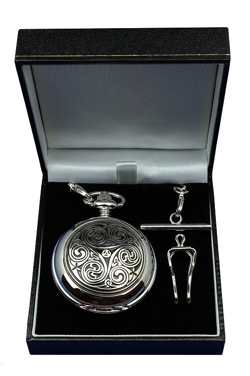 Celtic Triskele Quartz Pocket Watch