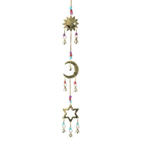 Sun Moon and Star Brass Chime